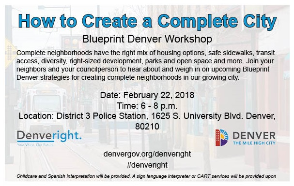 Upcoming blueprint denver workshop washington park east district 6 blueprint denver workshop flyer malvernweather Choice Image